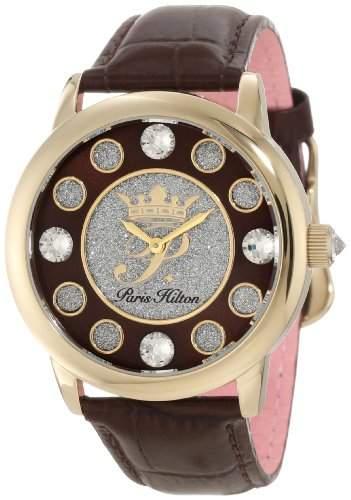 Paris Hilton Damen-Armbanduhr Fame Analog Leder PH13181JSG12