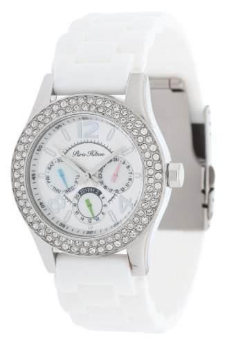 Paris Hilton Damen Armbanduhr weiss PH11687M-BL
