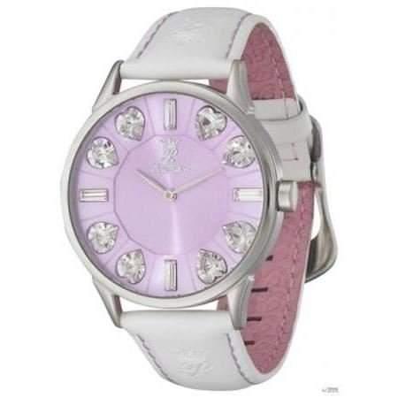 Paris Hilton Damen-Armbanduhr JOY Stone Analog Quarz Leder PH13524MS, Farbe:lila