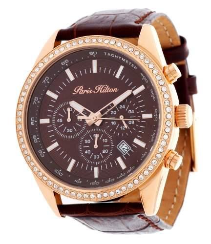 Paris Hilton Damen Armbanduhr Chronograph braun PH13653J