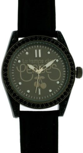 Le Temps des Cerises tc18tbkc2 TC18 Quarz Analog Zifferblatt schwarz Armband Leder schwarz