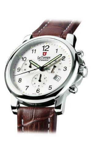 Le Temps of Switzerland Herren Chronograph ZAFIRA 40 mm
