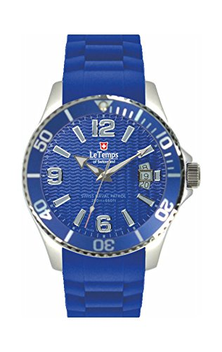 Le Temps of Switzerland SWISS NAVAL PATROL blau 42 mm