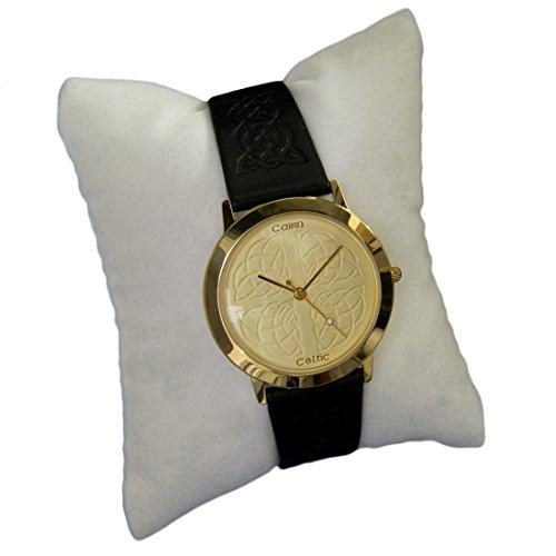 cc155g vergoldet Man s Celtic Armbanduhr durch Cairn mit Champagner Zifferblatt