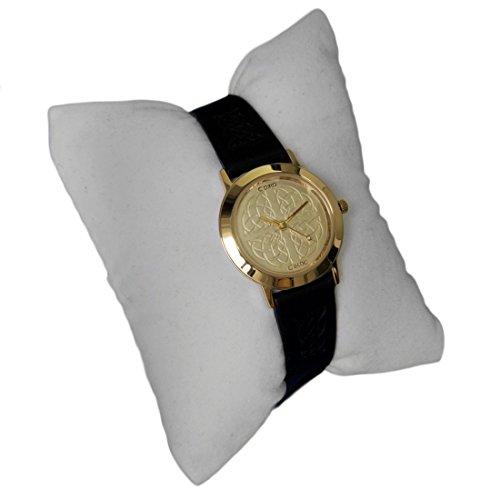 cc15gd vergoldet Damen Keltischer Armbanduhr by Cairn mit Champagner Zifferblatt