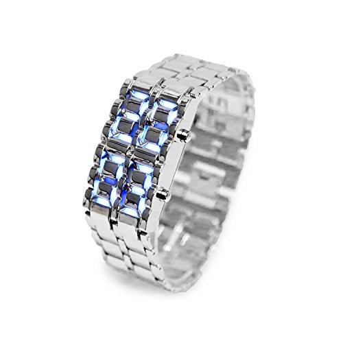 iMounTek Lava LED mit Stossdaempfung Kratzfestigkeit 12HR und 24 Stunden Zeit Modi Silber