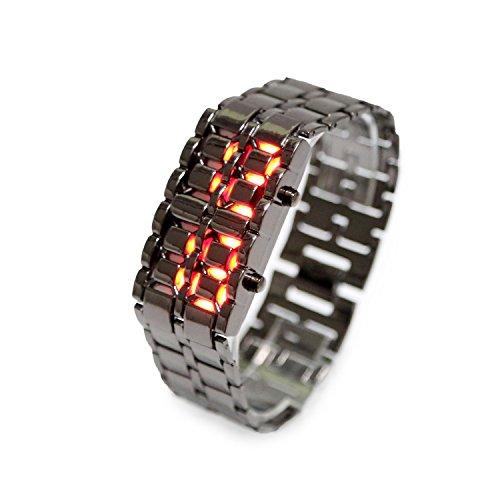 iMounTek Lava LED mit Stossdaempfung Kratzfestigkeit 12HR und 24 Stunden Zeit Modi Schwarz