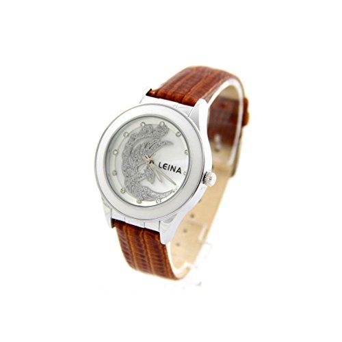 Damen Armbanduhr Leder braun LEINA 837