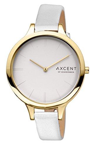 Axcent of Scandinavia Damen Armbanduhr Sleek Analog Quarz Weiss IX14028 631