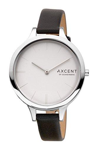 Axcent of Scandinavia Damen Armbanduhr Sleek Analog Quarz Schwarz IX14024 637