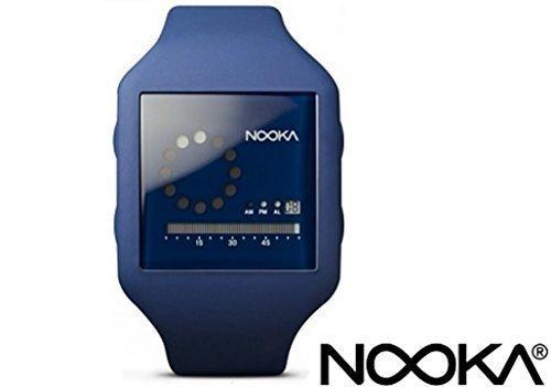 Nooka ZUBZIRCMB20 Unisex Midnight Blau Silikonband schwarzes Zifferblatt Digitaluhr