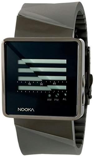 Nooka Unisex-Armbanduhr Zizm Digital Automatik Kautschuk grau ZIZM TI