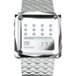 Nooka - Zem Zot Night Mirror Silber - Designuhr aus New York - Herrenuhr