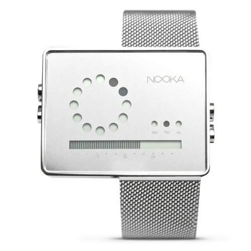 Nooka Unisex-Armbanduhr Edelstahl ZIRCMR