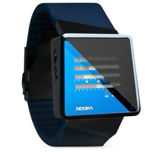 Nooka Unisex-Armbanduhr ZIZM Digital Automatik Kautschuk blau ZIZM MB