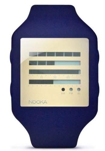Nooka Unisex-Armbanduhr Digital Kunststoff violett ZUBZENHAZ20