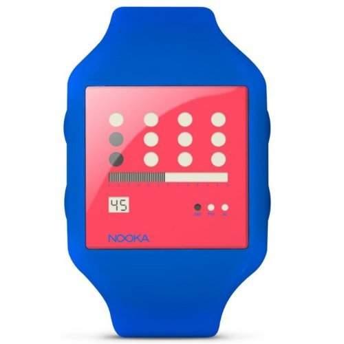 Nooka Unisex-Armbanduhr Digital Plastik blau ZUBZOTNR20