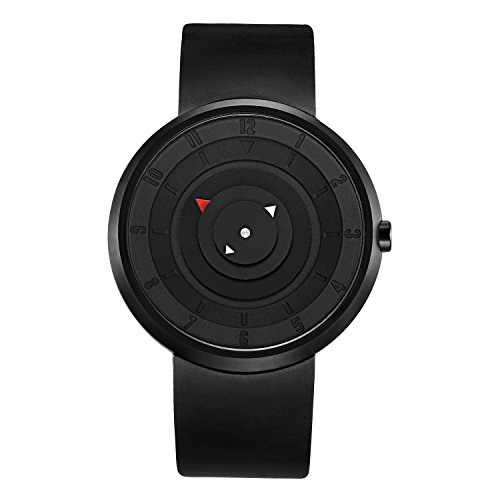 BREAK einzigartige Maenner Armbanduhren Gummiband Sport Mode Quarz Uhren