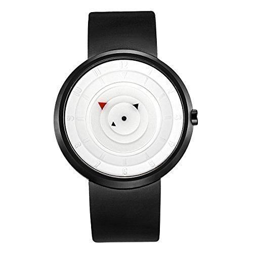 break TM Maenner Frauen Weiss Kreative kuehle wasserdichte kuehle Minimalist Unisex Sport Quarz Gummibuegel Art und Weise beilaeufige Uhren