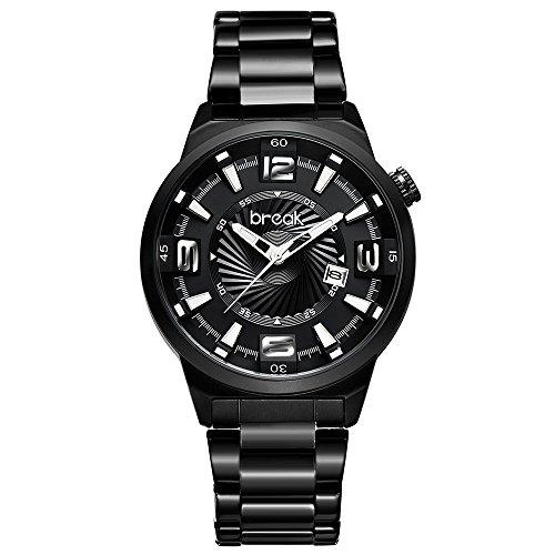 Break Herren Luxus Marke Edelstahl Band Fashion Casual Kalender Quarz Sport Armbanduhren Creative Geschenk Kleid Uhren