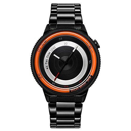 BREAK Edelstahlband Art und Weise sports analoge Quarzarmbanduhr der speziellen kuehles Geschenk fuer Maenner Frauen Uhr