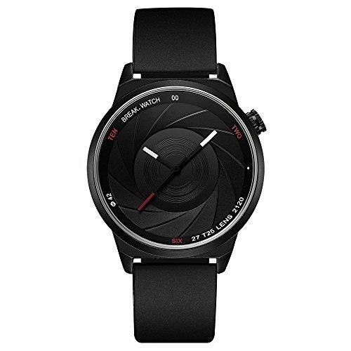 Break Marke neue Herren Damen Unisex Cool Sports Einfache Gummi Riemen Quarz Creative Fashion Einzigartige Fotografen Uhren