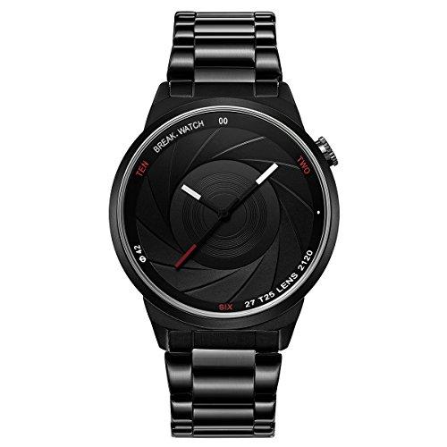 Break Marke neue Herren Damen Unisex Cool Sports Einfache Edelstahl Riemen Quarz Creative Fashion Fotografen Serie Uhren