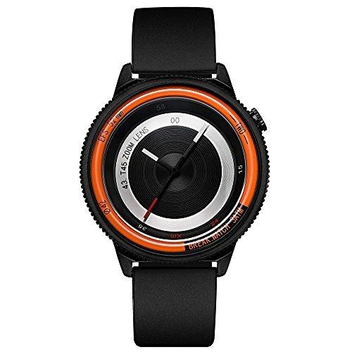 Break New Original Top Luxus Herren Damen Unisex Schwarz Rubber Strap Fashion Casual Quarz Einzigartige Fotografen Sport Cool Uhren