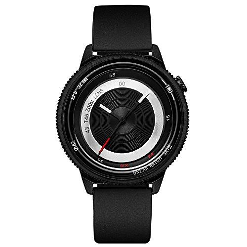 Break New Original Top Luxus Marke Herren Damen Unisex Schwarz Rubber Strap Fashion Sport Cool Quarz Modern City Lifestyle Creative Kamera Thema Uhren