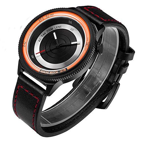 Original Neu Break Luxus Herren Damen Unisex Leder Trageriemen Kreative Fotografen Sport Fashion Casual Cool Quarz Uhren