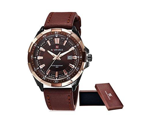 DESIGN FREUNDE Uhr Herrenschmuck Schmuck Armschmuck Armreifen Schmuckset Watch Accessoires Armbanduhr Herrrenuhr von NAVIFORCE