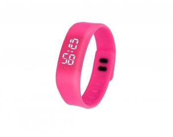 DESIGN FREUNDE Sportuhr Trainingsuhr Silikonuhr Uhr Watch Sportuhr Silikon Digital Sportuhr Armbanduhr Silikon Sportuhr Silikon Pink