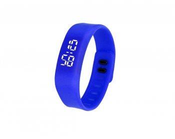 DESIGN FREUNDE Sportuhr Trainingsuhr Silikonuhr Uhr Watch Sportuhr Silikon Digital Sportuhr Armbanduhr Silikon Sportuhr Silikon Blau