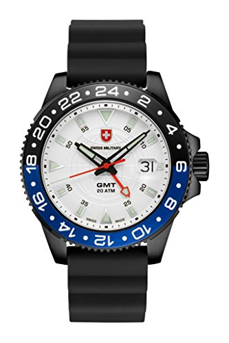 CX SWISS MILITARY WATCH GMT NERO SCUBA 27751 Swiss Made 20ATM Silikon 106g