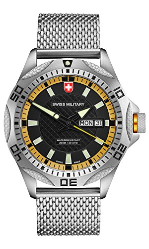 CX SWISS MILITARY WATCH TANK Referenz 2739 Swiss Made 20ATM Milanese 148 gr