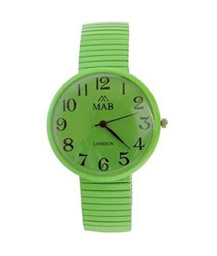 Armbanduhr Unisex Gruen Verlaengerbar MAB Designer Modisch Rund Verlaengerbares Armband