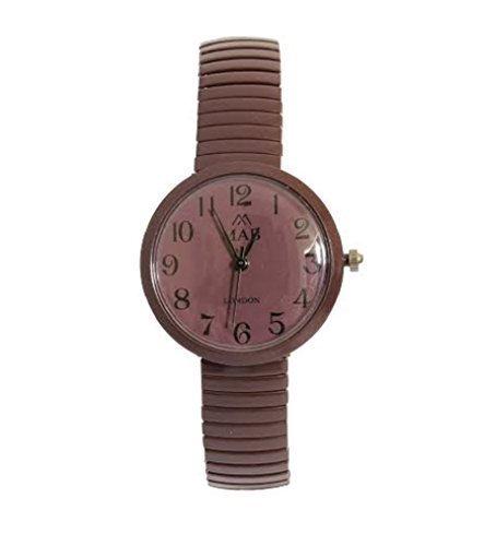 MAB Designer Damen Armbanduhr Dehnbares Armband Modische Runde Uhr