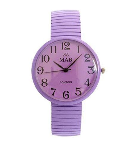 Unisex Lila Farbe Armbanduhr Erweiterbar MAB Designer Mode Uhr