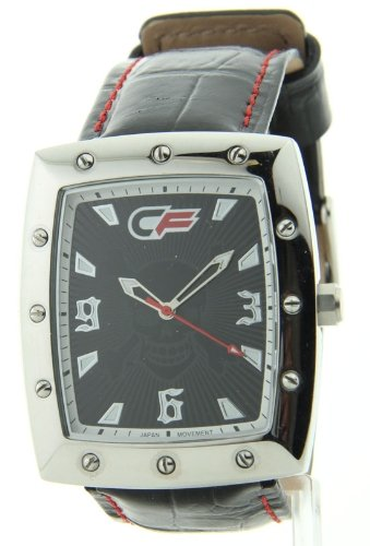 Mens Cage Fighter Echten Leder Watch CF332007BSBK