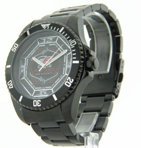 Mens Cage Fighter Schwarz Edelstahl Rotierende Luenette Watch CF332013BKBK