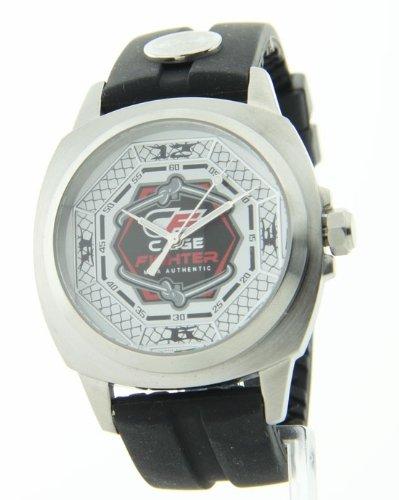 Mens Cage Fighter Gummi Neue Sportliche Watch CF332006BSWH