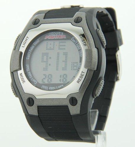 Mens Cage Fighter Gummierte Band Digital Watch CF32005BSBK