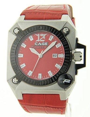 Mens Cage Fighter Leder Date Watch CF332009RDRD