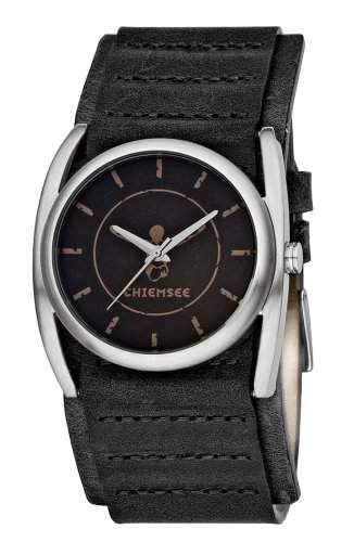 Chiemsee Herren-Armbanduhr Leder schwarz CW-0071-LQ