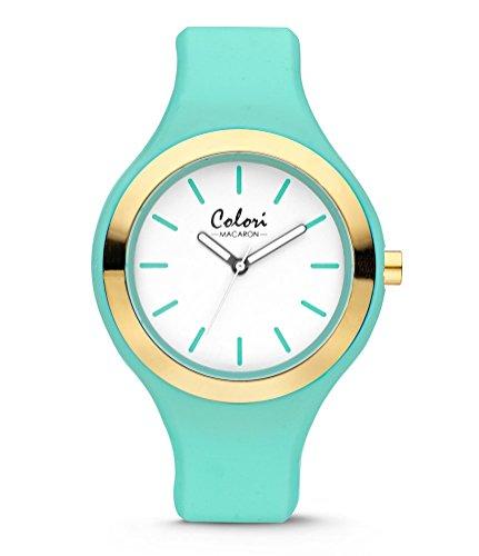 Colori Watch Macaron Mint 44mm Silikon Sommer Fruehling Bunt mintgruen