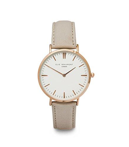 Elie Beaumont Oxford Damen Uhr mit Lederarmband Farbe Grau
