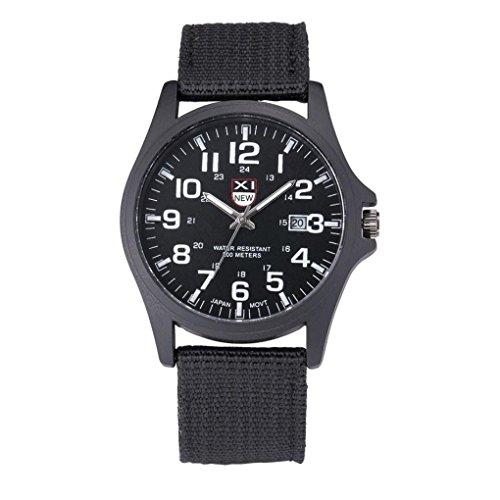 Herren Quarzuhr Kingko TM 40mm Edelstahl Zifferblatt Canvas Band beilaeufige Uhr