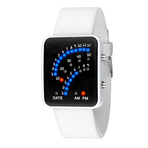 kingko Uhren Unisex Maenner Frauen wasserdichte Armbanduhr elegant Uhr Zeitloses Design Classic Leather roemischen Ziffern Leder analoge Weiss