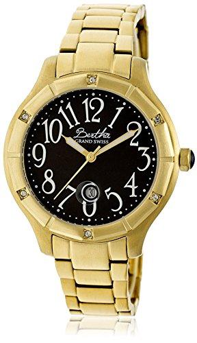 Bertha Armbanduhr Analog Schweizer Quarz Edelstahl BTHBR4804 gold