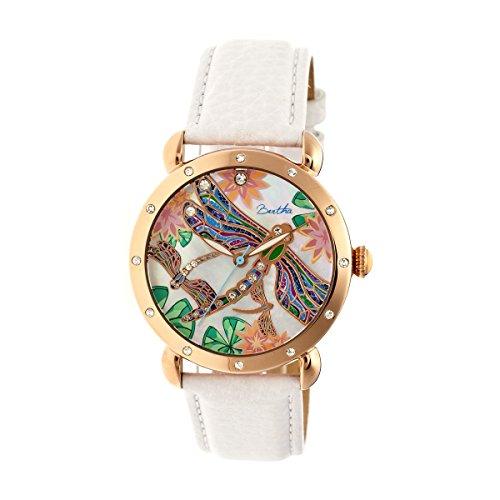 Bertha Uhren Jennifer Damen Armbanduhr weiss